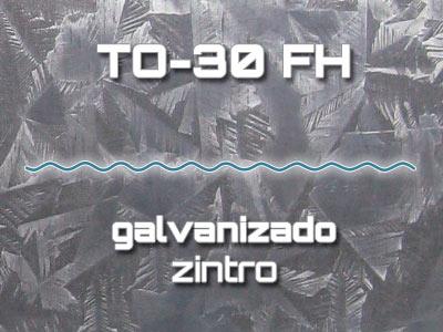 Lámina Acanalada TO-30 FH Galvanizado Zintro