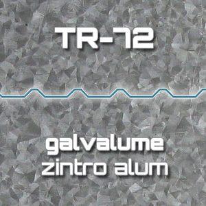 Lámina Acanalada TR 72 Galvalume Zintro Alum