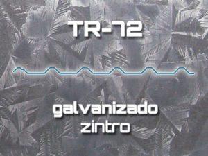Lámina Acanalada TR 72 Galvanizado Zintro