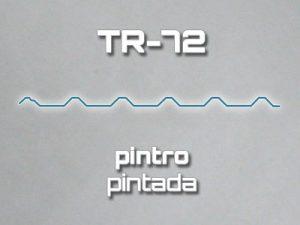 Lamina Acanalada TR 72 Pintro Pintada