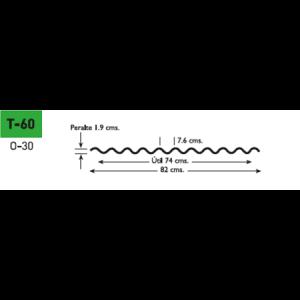 Lámina poliester Poliacryl tipo T-60 para TO-30
