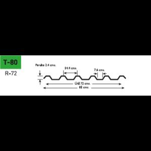 Lámina poliester Poliacryl tipo T-80 para CM-72 y TR-72