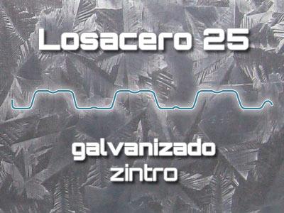 Lámina Acanalada Losacero 25 Galvanizado Zintro