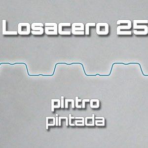 Lámina Acanalada Losacero 25 Pintro Pintada