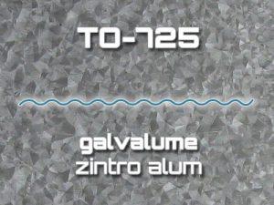 Lámina Acanalada TO-725 Galvalume Zintro Alum