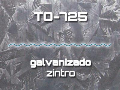 Lámina Acanalada TO-725 Galvanizado Zintro