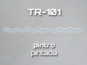 Lámina Acanalada TR 101 Pintro Pintada