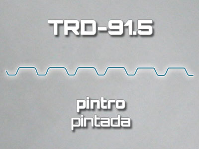 Lámina Acanalada TRD-91.5 Pintro Pintada